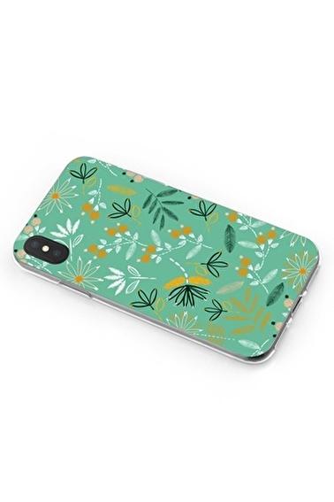 Lopard iPhone Xs Max Kılıf Silikon Arka Kapak Koruyucu Çiçek Nakış Desenli Full HD Baskılı Renkli